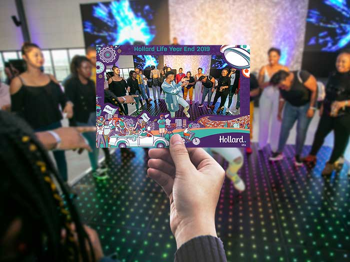 Photo booth hire template at corporate event