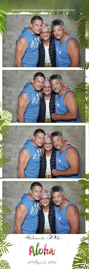 Helen's 50th Aloha photobooth