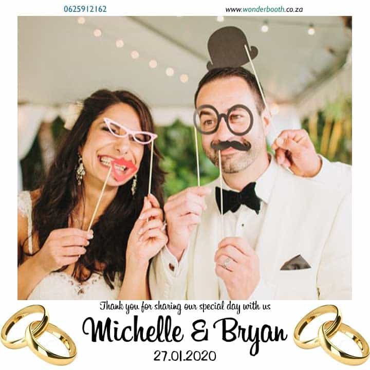 Showcasing our video wedding photo booth for hire. A couple take a fun video at an event.